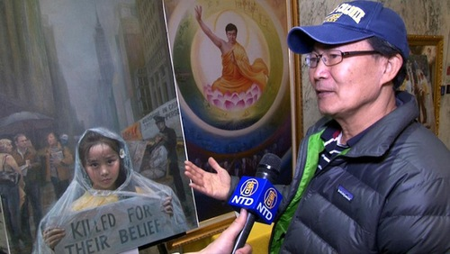 Mr. Huang, a resident of Albany, said he was moved by the paintings.