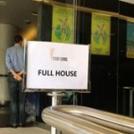 """Full House"" sign at the Sydney Lyric Theatre for the Shen Yun performance"