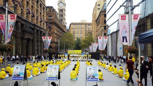 The rally at Martin Place