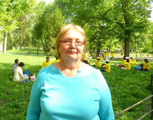 Marjoram Allen learned the Falun Dafa exercises in Central Park.