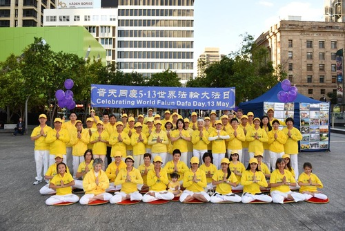 Celebrating World Falun Dafa Day.