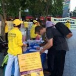 Signing the petition opposing the persecution.
