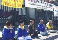 Peaceful protest outside the Chinese Consulate in Milan