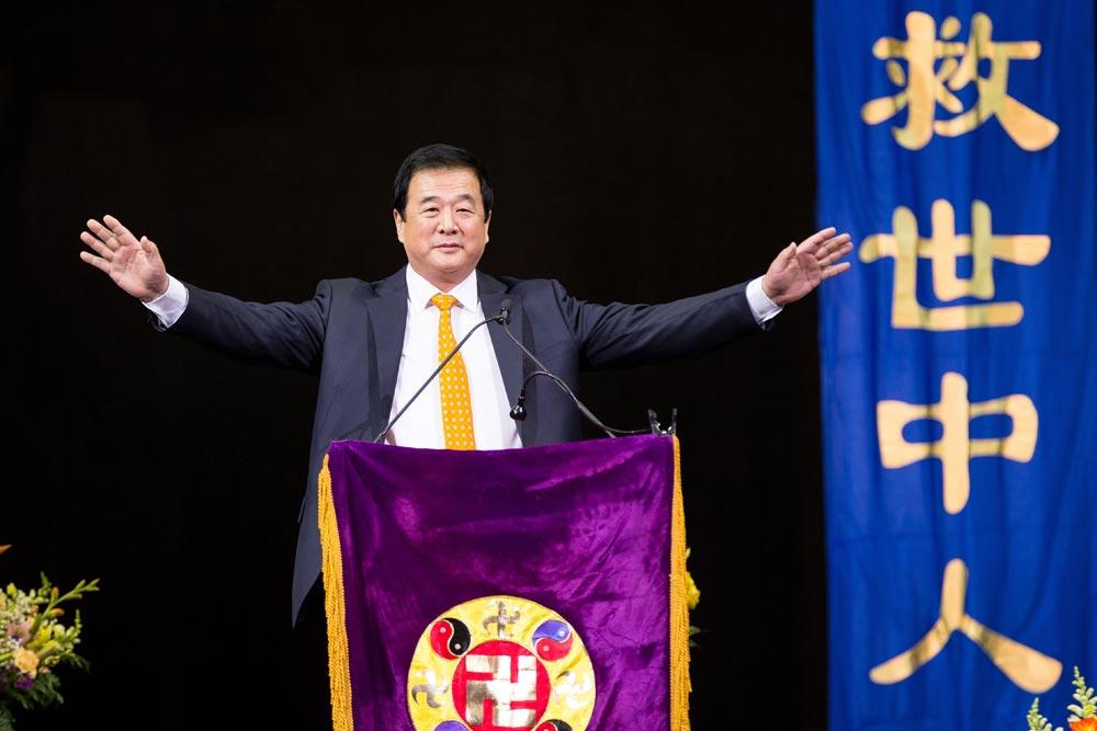 Mr. Li Hongzhi, the founder of Falun Gong was warmly welcomed