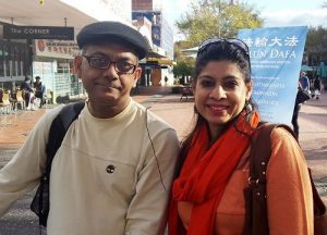 Somya and Danish Khan support Falun Gong.
