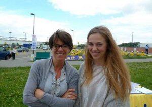 Ingrid (left) and Stephanie