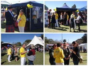 Falun Gong practitioners raise awareness at Languages and Cultures Festival in Toowoomba on Aug. 14, 2016.