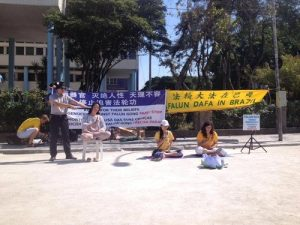 Practitioners re-enact tortures that Falun Gong practitioners face in China's jails.