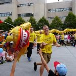 Dragon dance performed by Western practitioners.
