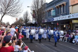 Tian Guo Marching Band seen in the 67th Carnival of Flowers parade held in Toowoomba, Australia.