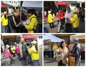 Passerby sign the petition against the CCP's live organ harvesting.