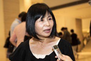 Radio station host Miyosa Takahashi.