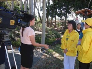 WIN TV in Hervey Bay interviews practitioners.
