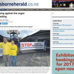 The Gisborne Herald covers the car tour on October 7, 2016.