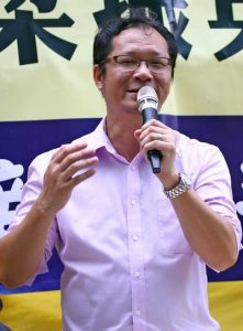 Richard Tsoi, the former vice-chairman of the Democratic Party in Hong Kong, briefly reviewed the Communist Party's history of killing its own citizens. He called for joint forces from the democratic activists to end the governing of the Communist Party.