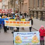 Nearly one thousand Falun Gong practitioners march in Munich on November 5, 2016 to raise awareness of the Chinese Communist Party's persecution of Falun Gong.