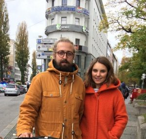 Dennis (left) studies at Ludwig-Maximilian University of Munich.