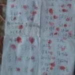 Photo: Petition Signatures to Rescue Ms. Zhang Xiumei.