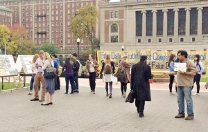 The Falun Dafa Student Club at Columbia University in New York City held a photo exhibition on campus.