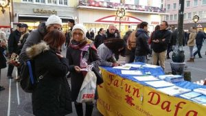 Tourists and residents sign petition to end organ harvesting.