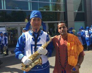 Divya Govinda praised the distinctiveness of the Falun Gong float and music.