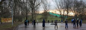 After the conference, practitioners who stayed in Warsaw did the exercises in a park.