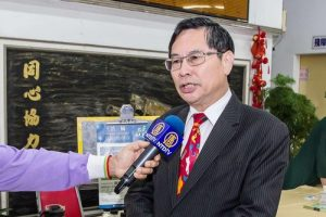 Chiayi Mayor Twu Shiing-jer calls for help to support Falun Gong practitioners.