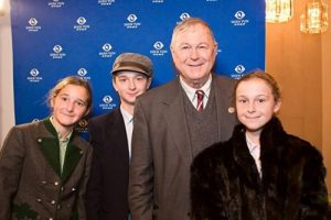 Dana Rohrabacher, U.S. Representative for California, with his children at the Shen Yun performance in Washington, D.C. on January 17, 2017