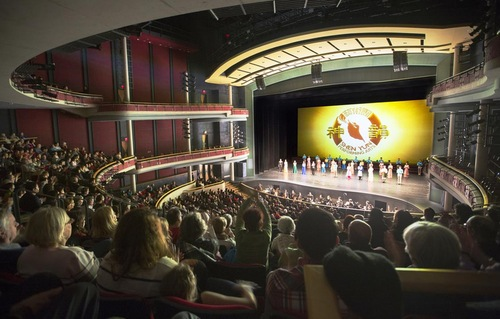 Curtain call by Shen Yun's World Company at the Living Arts Centre in Mississauga, Canada on January 21, 2017