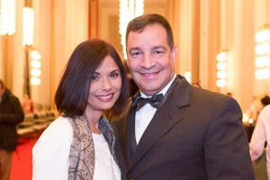 Brigadier General Hector Lopez and his wife, Lourdes, at the Kennedy Center Opera House on January 17, 2017