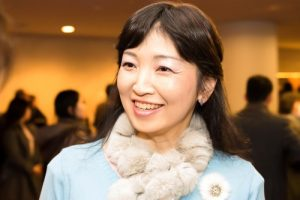 Playwright Misako Ohashi at the Bunkyo Civic Hall in Tokyo on January 31, 2017.