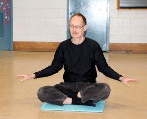Seneia Suele meditates.