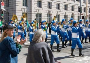 Many really enjoyed the Tian Guo Marching Band at St Patrick's Day parade in San Francisco.