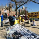 The Rijksmuseum, the Falun Dafa practitioners held activities at the Museum Square, Dutch National Museum, on April 8, 2017.