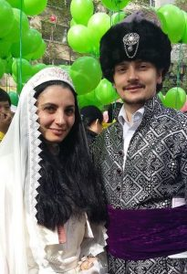 Alex Nimenko from Ukraine and his wife Armina from Romania.