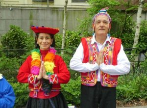 Gujunio Bereyra (right) and Elene Davis (left) from Peru.