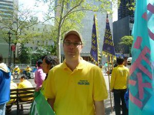 Dane, 33, said Falun Dafa gives him health and a positive attitude toward life.