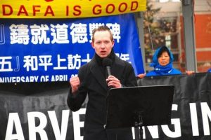 Michael Cooper, MP for Edmonton-St. Albert, urged China to stop the atrocity against Falun Dafa practitioners.