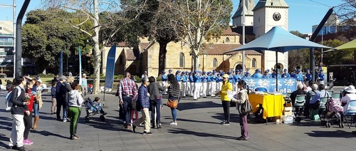 A rally in Parramatta, Sydney, raises awareness of Falun Gong and the ongoing persecution in China.