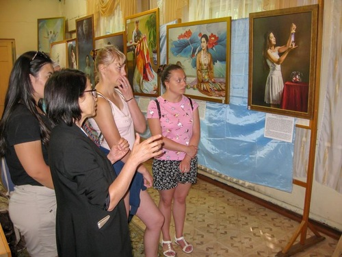 Over 1,500 people visited the exhibition during its first week since July 16 at Arshan, Republic of Buryatia, Russia Federation.