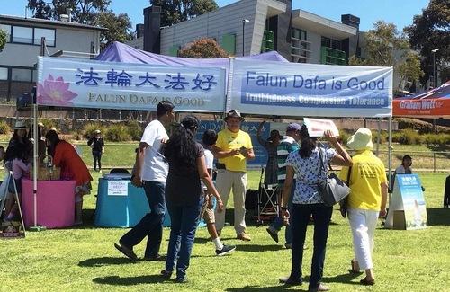 Falun Dafa at the Chadston community event.