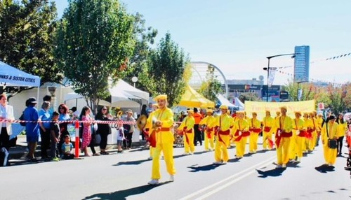 The Waist Drum Team participates in the 2019 Blacktown City Festival on May 25.