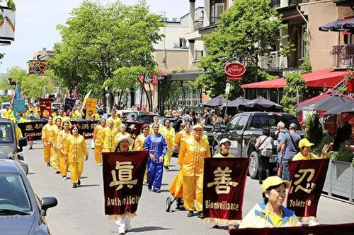 The Falun Gong parade in Quebec City on June 8, 2019.