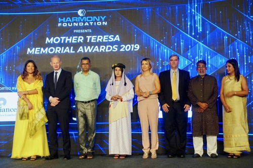 Winners of the Mother Teresa Memorial Award (Photo courtesy Mark Luburic).