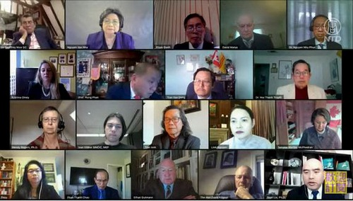 Conference on the CCP's Forced Organ Harvesting by the International Coalition to End Transplant Abuse in China on February 24, 2021.