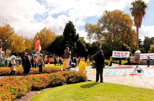 The rally in Bendigo.