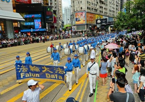 The grand march lasted three hours and wound through some of the busiest areas of Hong Kong