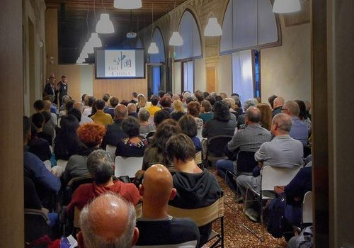 The film screening in Thiene, Italy, on May 24, 2019.