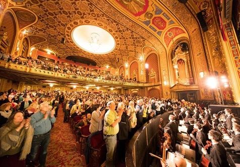 Standing ovation after Shen Yun World Company's performance at the Providence Performing Arts Center in Providence, Rhode Island on February 11, 2018.