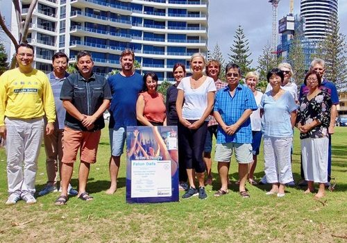 Gold Coast mayoral candidate Mona Hecke with practitioners